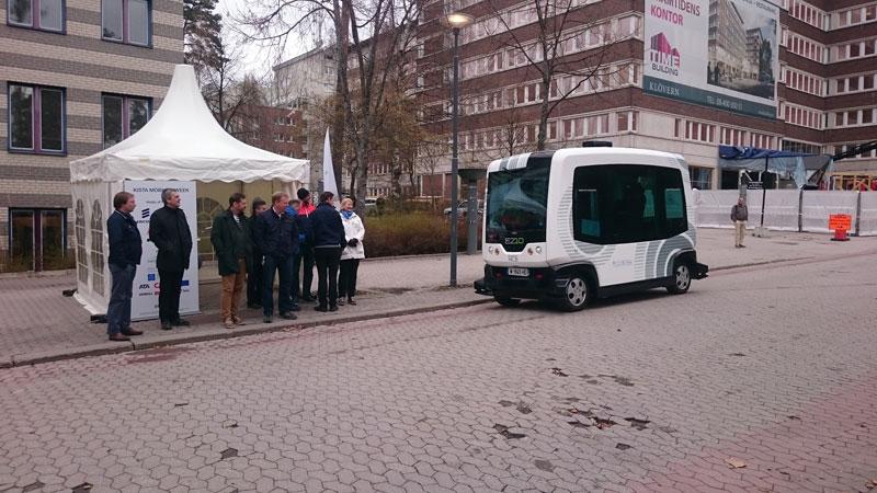 Швеция: в Стокгольме тестируют беспилотные автобусы