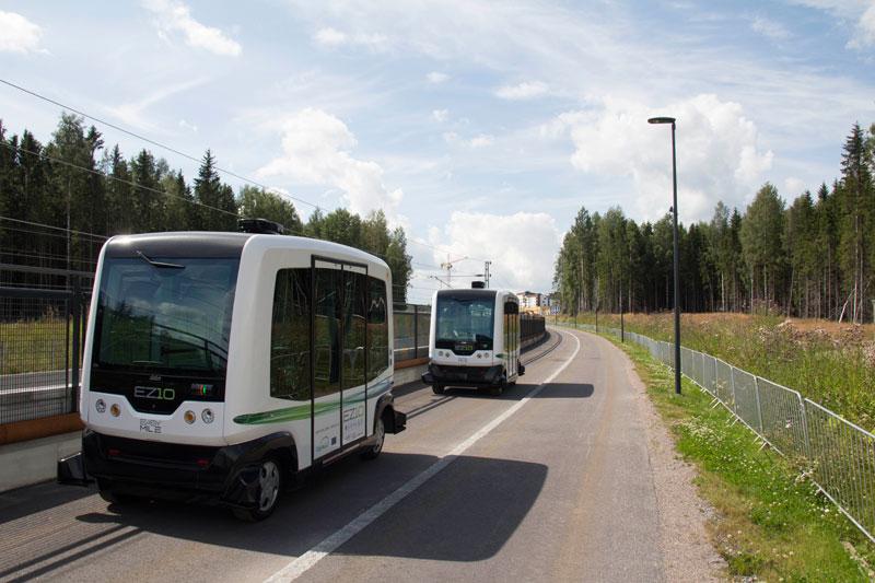 Финляндия: столица тестирует автобусы-беспилотники