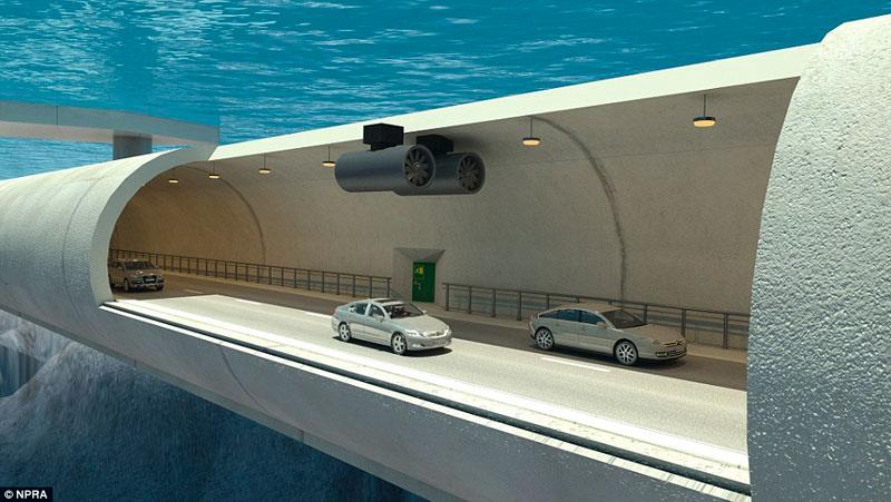 Норвегия: автомобилистам – подводный плавающий мост (VIDEO)